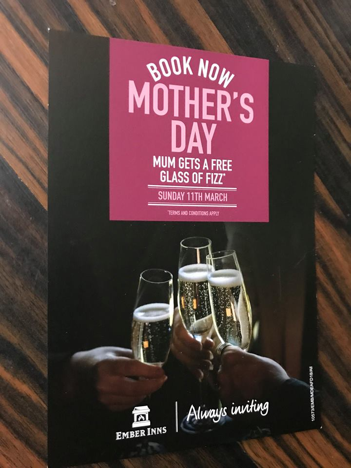 Mothers Day - 11th March @ The Fairfield Arms